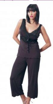 VX Intimates Microfibre Camisole and Capri Pant Set (Black)