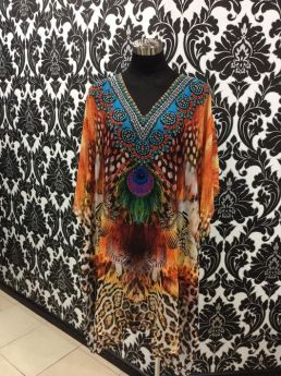 Solitaire Short V Neck Dress with Embellishment