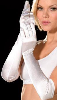 Dreamgirl Long Satin Gloves