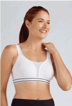 Amoena Performance Sports Mastectomy Bra (White)
