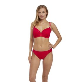 Fantasie Rio Bueno U/W Moulded Gathered Bikini Top (Rouge)