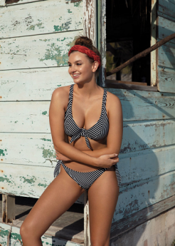 Freya Swim Beach Hut Black Underwired High Apex Bikini Top