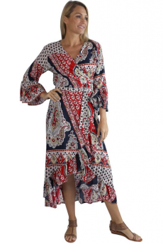 Sundrenched Driftwood Grenada Dress (Red)