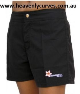 Sundrenched Gidget Mid Thigh Board Short (Black)