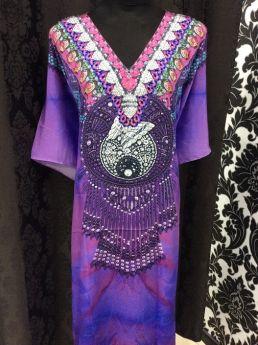 Heavenly Kaftan Dreamcatcher Embellished V Neck