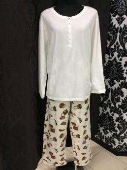 Vikki James Diva Dolly Pyjama Set (White)