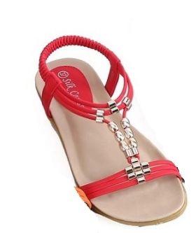 Silk Caress Embellished Flat Sandal