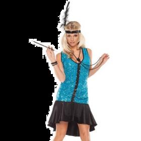 Swingin Flapper Dress Up Costume