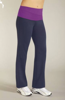 Amoena Active Wear Long Leisure Pant (Deep Blue/Lilac)
